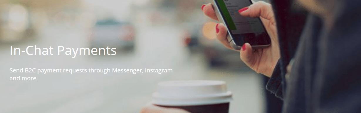 Zahlungen über Messenger, Twitter und Live Chat durchführen